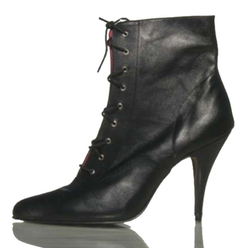 Absatzplattform lederne Schuhe Oxford-P2