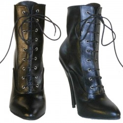 Thigh high leather platform boots Diva-P
