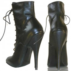 Classic high heel ankle boots