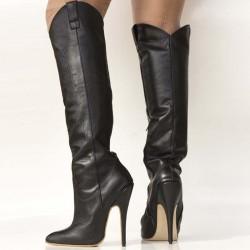 Stiletto high heel cowboy boots