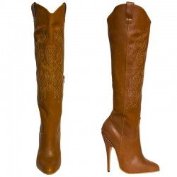 Stiletto high heel cowboy boots