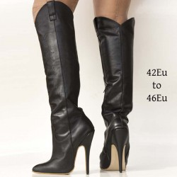 High heel cowboy boots in large sizes