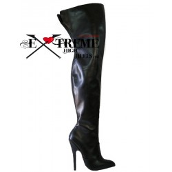 HIgh heel leather thigh high boots made to measure