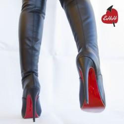 High Heel Leder Oberschenkel hohe Stiefel