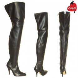Fetish leather ballet knee boots Ballet-3