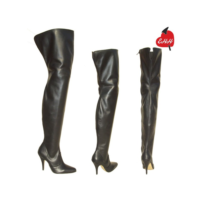 Fetish leather ballet knee boots Ballet-3