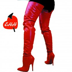 HIgh heel leather thigh high boots