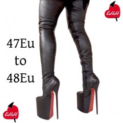 High heel thigh high platform boots extra big sizes