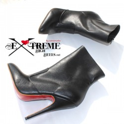 leather ankle boot with high heel sizes super large