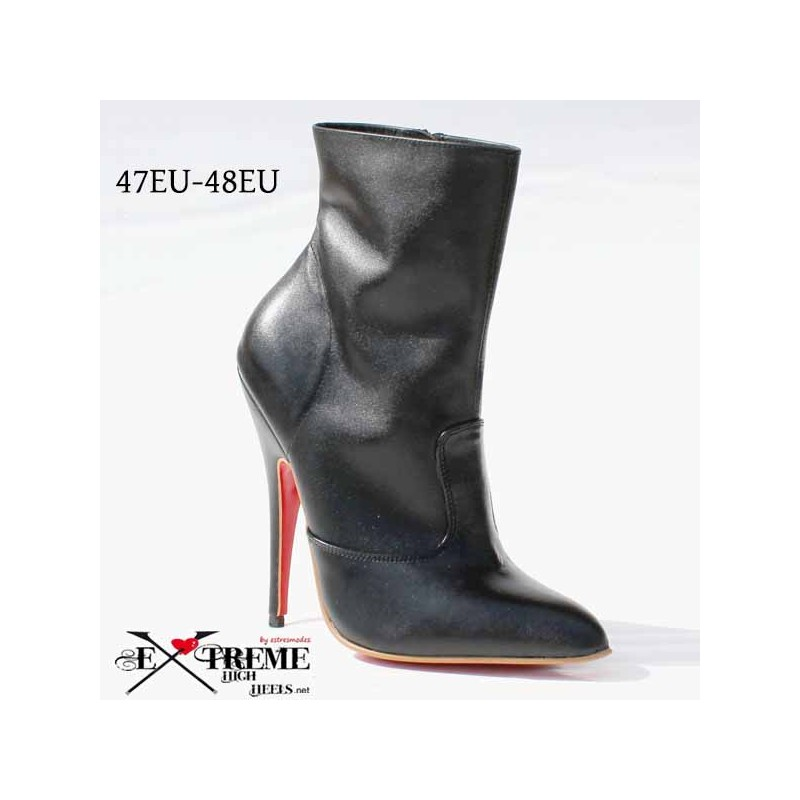 Fetish leather ankle boots in extra large sizes